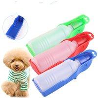 250 ملليلتر 500 ملليلتر المحمولة كلب زجاجة مياه تغذية السلطانية الكلب القط السفر في الهواء الطلق أضعاف موزع المغذية كأس WX9-1482 193 K2