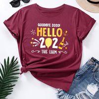 Damen T-Shirt Jcgo Sommer Frauen T-Shirt Baumwolle 5XL Plus Größe 2021 Buchstaben Drucken Kurzarm O Hals Graphic T Shirts Tops Lässig übergroß TSH
