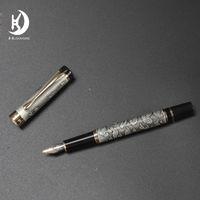2021 Jinhao Millennium Dragon Pens Hecho en China Firmas de buena calidad Pen Hollow Cuerpo Signature Signature Regalo de Lujo