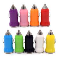 미니 자동차 충전기 유니버설 어댑터 화려한 미니 USB 차 충전기 5V / 1A 휴대용 충전기 어댑터 소켓 무료 10 개 색상 출시