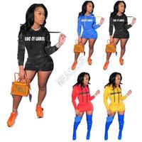Femmes Sweats à capuche à capuche à capuche Pull à capuche Lucky Label Lettres Imprimer Robes d'automne Casual Casual manches longues à manches longues avec poches D102605