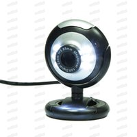 USB Webcam High Definition 12.0 MP 6 LED Night Light Web Camera Buit-in Mic Clip Cam für PC Desktop Laptop Notebook computerfrei DHL