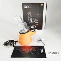 왁스 기화기 유리 봉 Soc Atomizer DAB 조작 전자 담배 액세서리 2600mAh 왁스 농축기 산산조각 건조 허브 기화기 4 온도 세트 vapes 펜