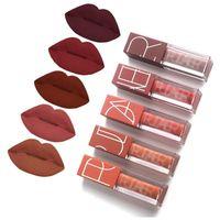 5 PCS Lip Gloss Set Velvet Lèvres Tint Kit Matte Liquide Liquide Rouge à lèvres imperméable longue durée de durée naturelle pour amant de maquillage