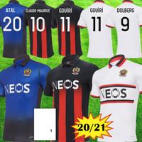 20 21 OGC Niza Jerseys de fútbol 2020 2021 OGC Nice LEES Melou Gouiri Dolberg Dante Kamara Atal Equimiento Maillot de Foot Football Shirts