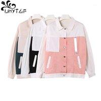 Uhytgf befree casacos mulheres primavera outono 2020 plus size bf harajuku jaqueta bombardeiro moda splice manga longa jaqueta senhoras 5371