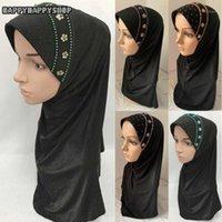 Этническая одежда Женщины Мусульманский Исламский Хиджаб Черный Стиль Стиль Стиль Платки Упарки Amira Cap Арабские Дамы Бисероплетенные Шарфы Турбан Шляпа Головные Узлы Ramadan1
