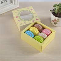 Macaron Cupcake Cake Box Cadeau Caisson Case de chocolat Case des aliments Emballage Gilding Biscuits Biscuits Type de tiroir Nouvelle arrivée 1 09jm F2