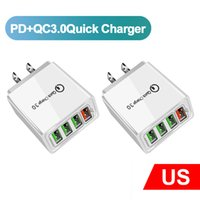 Quick Cell Phone Chargers 3.0 4USB 3.1A Fast Wall MobilePhone 4 Ports Adapter Charger for Ipad Iphone 7 8 11 Samsung s11 s20 android PC US UK EU