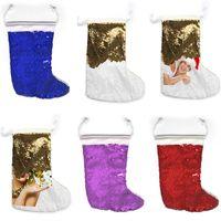 الترتر عيد الميلاد الجوارب الديكور التسامي النقل الحراري عيد الميلاد الجورب نقل الحرارة فارغة الجوارب X-ماس اللوازم 6 ألوان F110501