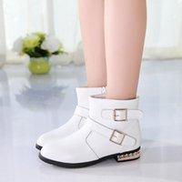 Mädchen Mode Stiefel Herbst Winter 2021 Neue High Tube Princess Kinder Kurzstiefel Koreanische lange Baumwollschuhe CN (Herkunft)