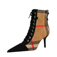 Plus Size Donne Boots Designer Designer Shoes Shoes Europeo e American Fashion Fish Bocca Hollow Cross Straps Tacco alto da donna 8788-13
