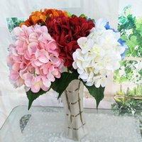 Искусственная гортензия цветок головки поддельных шелковых одиночных реальных сенсорных гортензий для свадебных целевых компаний Главная партия декоративные цветы WY1096