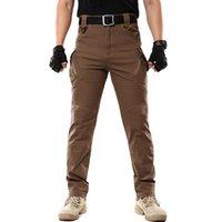 Тактические брюки Мужчины Город Многокарманные Эластичные Армейские Брюки Мужские Водонепроницаемые Износостойкие Сохранитель Сват Боевые Грузовые пробежки