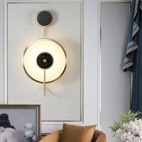 Marble Nordic Copper Applique Background Hôtel Applique Nouveau style chinois Salon Décoration Escalier Aisle lampe