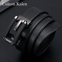 Cintura in pelle da uomo Brand Business Business Automatic Fibbia Layer Layer Pelle Cintura da uomo Belt Belt Pantaloni Belt Belt Cintura Regalo Confezione