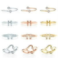 2021 new High Quality 1:1 TIF Original 925 Sterling Silver Simple Elegant Classic Ring Series DIY Jewelry Gift for Women Wholesale