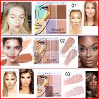 Cmaadu Natural 6 Couleur Correcteur Fondation Maquillage de visage Correcteur Brighten Hydratante Pores Couverture Contour Palette correctrice