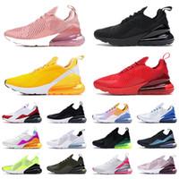 ayakkabı nike air max airmax 270 Erkek Bayan Üçlü Kırmızı Beyaz Tüm Siyah Pas Pembe Barely Rose Kahverengi Spor Ayakkabılar Eğitmenler Boyut 36-45
