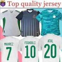 MAILTT ALGERIE 2020 2021 Fussball Jersey Startseite MAHREZ BOUNDJAH FEGHOULI BENNACER ATAL 20 21 ALGERIA MAILLOT DE FOOT
