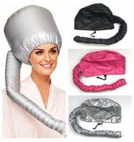 Portable Soft Hair Drying Cap Bonnet Hood Hat Blow Dryer Attachment Curl Hair Tools Gray Dry Hair Cream Cap 6pcs