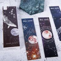 30 pcs / pack de rêve Espace Constellation papier Bookmark Stationery Favoris Porte-Livre message carte fournitures scolaires étudiants