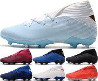 Astro Turf Mens Football Boots Niños EUR Tamaño US 19+ AG Nemeziz 19 FG 12 Tripler Black Men 46 Zapatos de mujer 38 Crampones De Soccer Clots