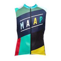 2021 NUEVO EQUIPO DE MAAP Ciclismo Sin mangas Jersey Jersey Chaleco Summer Mens Racing Bicycle Shirts MTB Ropa de bicicleta Otdoor Deportes Uniforme S21013035