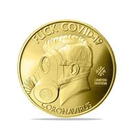 Sono sopravvissuto al 2020 Silver Commemoratives Copia monete regalo per gli amici collezionisti familiari monete commemorative per combattere l'epidemia