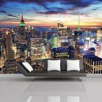 Drop Доставка Пользовательские Росписи Обои Европейский Стиль 3D Стереоскопическая Нью-Йорк Спальня Фон фото Обои Home Decor1