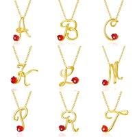 Joyería cristalina A a la Z 26 letras collar minimalista inicial para las mujeres del encanto del alfabeto colgante de collar de regalo de los amigos de la familia