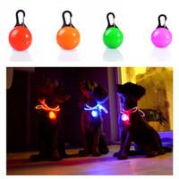 Cat Dog Pet Led Light Waterproof coleira de cão Iluminado Noite Segurança Walking Luzes ID Tag de cão Pet Pingentes piscando Led Collar w-00320