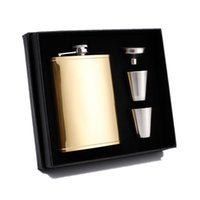 8oz Stainless Steel Wine Pot Cup Funnel Kit Matte Black Hip Flask Portable Whisky Champagne Bottle 20 8yx G2
