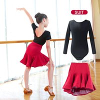 New Children Latin Ballroom Dance Dress Girls Performance Latin Suit Kids Dance Top & Skirt Sets Competition Costumes