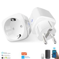 Smart Wifi Power Plug with Powers Monitor 16A EU Smarts Homes Wifis Wireless Socket Outlet Works withs Alexa Google Home Tuya App
