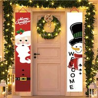180x30cm عيد ميلاد سعيد مرحبا بكم باب راية، 100D أقمشة بوليستر، الشنق الأعلام والرايات الباب، شحن مجاني