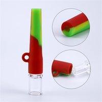 Protezione dell'ambiente Uomo Tubi di vetro Portatile Adult Silicone Pipe Accessori fumatori Popolare in Europa e America Vendita calda 3 5xm J2