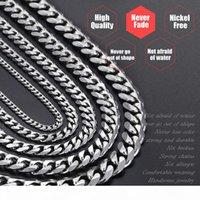 Hip Hop Herren Halskette Kette Edelstahl Silber 2018 Halskette für Männer Schmuck Geschenk Großhandel 3 5 7 9 11mm