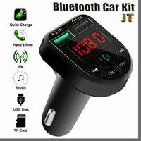JTD BTE5 VOCO Lecteur MP3 Bluetooth FM Transmetteur FM Voiture FM Modulateur Dual USB Port-port pour 12-24V Général Véhicule 2021