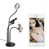 Selfie Light Cell Phone Support avec support de microphone pour Live Stream.Dimmable pour ,, Huawei, HTC Smartphone Facebook1