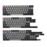 Black Gray Mixed Dolch Thick PBT 104 87 61 Keycaps OEM Profi...