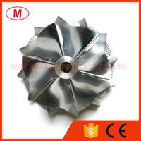 터보 충전기 카트리지에 대한 TD04HL 49189-00016 43.43는 / 56.02mm 6 개 + 6 개 블레이드 성능 터보 빌릿 압축기 휠 / 알루미늄 2618 / 밀링 휠