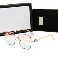 2021 Moda Erkek Kadın Marka Miyopi Gözlük Adam Bayan Adumbral Güneş Gözlüğü Adam Bayan Düz Anti-Mavi Işık Cam Kutusu Ile Yüksek Kalite