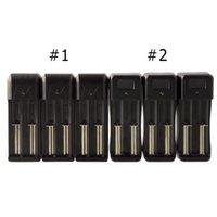 2 em 1 carregador de bateria Dual E Cigarro Universal para 18650/18350 Batterys com duas portas de carregamento DHL grátis