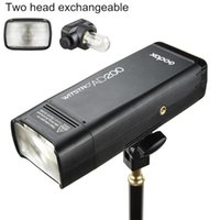 Godox AD200 200Ws 2.4GL o Flash Strobe 1/8000 HSS Cordless Monolight com 2900mAh Lithimu bateria e descobre Bulb / Speedlite flash