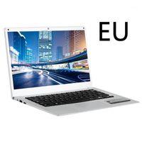 Клавиатура охватывает портативный 14-дюймовый ноутбук Silvery RAM 6GB + ROM 64 ГБ высокой четкости 2.4GHZ TF-карта Ультратонкие компьютеры1