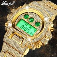 Orologi da polso Missfox Multi-funzione G Style Digital Mens Orologi Top LED 18K Gold Watch Uomo Hip Hop maschile Iced Out Orologi1