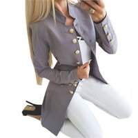 Winter New Slim Jacket Fashion Single Breasted Solid Women L...