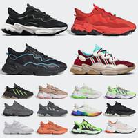 2020 يضيف احذية عادية adidas ozweego تريل هالوين ريترو الأبيض رجل إمرأة حذاء رياضة أبيض أسود أرجواني متعدد الغيمة البيضاء المدرب الرياضي