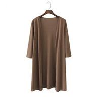 Plus Taille 4XL Drop Expédition Été Automne longue tricotée Pull Cardigan Air conditionné Cape Sun Protection Blusas Y200720